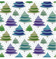 Christmas fir trees seamless pattern vector