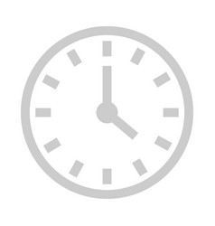 clock with hands showing time and deadlines web vector image