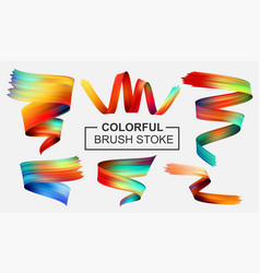 colorful brush stroke design and texture elements vector image