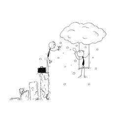 Conceptual cartoon of creativity benefit in vector