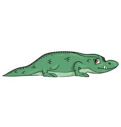 crocodile on white background cute cartoon vector image