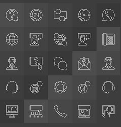 Customer support icons - support service vector