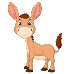 Cute donkey cartoon vector