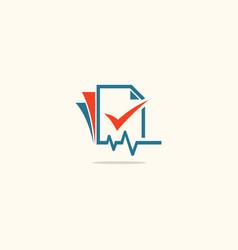 Data paper analytic business logo vector