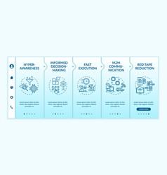Digital business agility onboarding template vector