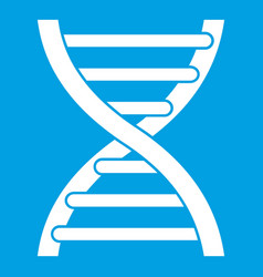Dna icon white vector