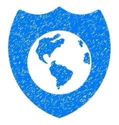 Earth Shield Grainy Texture Icon vector