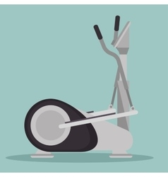 elliptical machine gym icon vector image