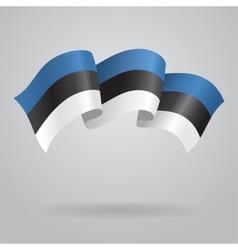 Estonian waving Flag vector