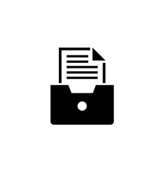 file drawer archive document flat icon vector image