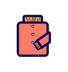 Flat color jacket icon vector