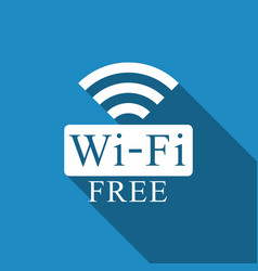 Free wifi sign icon with long shadow wifi symbol vector