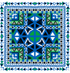 geometrical background with ethnic motifs vector image