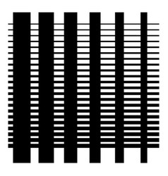 Grate grid pattern fiber wicker interlock mesh vector