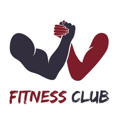 gym fitness emblem labels badges logo vector image