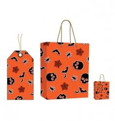 Halloween bag and tag set vector image