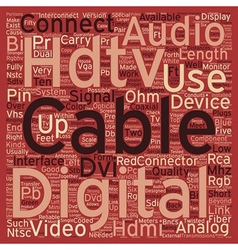 Hdtv cables2 text background wordcloud concept vector