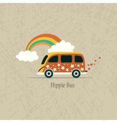 Hippie van vector