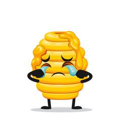 Hive bee mascot or character vector