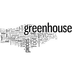 How to build a greenhouse vector