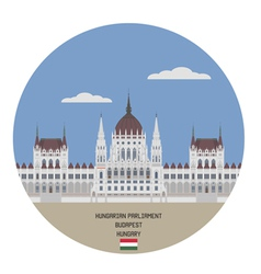 hungarian parliament building vector image