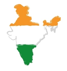 India map silhouette vector