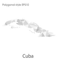 Isolated icon cuba map polygonal geometric vector