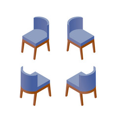 isometric designer chair furniture design vector image