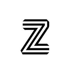 letter z modern logo isolated on white background vector image