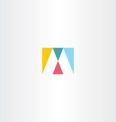 Logo m letter m logotype sign icon design vector