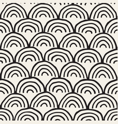 Monochrome minimalistic seamless pattern with arcs vector