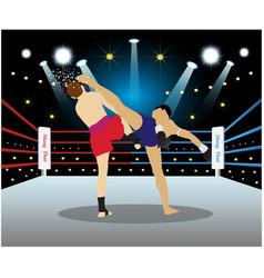 Muay thai fighting vector