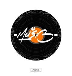 Music hand drawn letteringInk vector