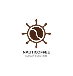 nautical with coffee logo designs inspirations vector image
