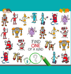 One a kind game with robots fantasy characters vector