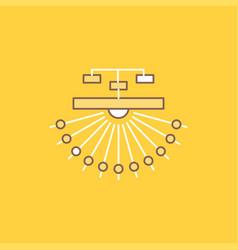 Optimization site site structure web flat line vector
