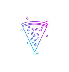 pizza icon design vector image