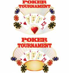 poker tournaent vector image