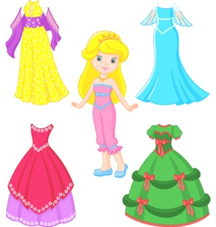 Princess dress vector