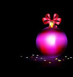 Purple christmas ball vector