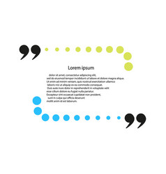quote template framework comments statements vector image