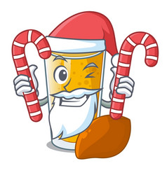 Santa with candy lassi mango in the character vector