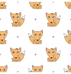 seamless pattern of foxes vector image
