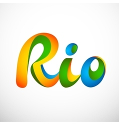 Sign Rio olympics games 2016 vector image