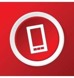 Smartphone icon on red vector image