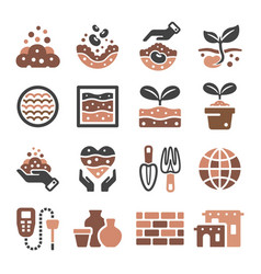 soil icon vector image