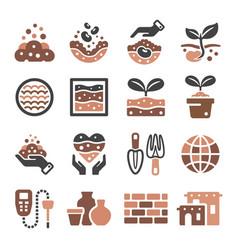 Soil icon vector
