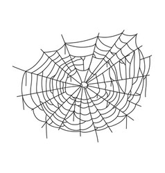 spiderweb line art icon spooky halloween spider vector image