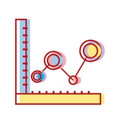 statistics graphic diagram with data line vector image