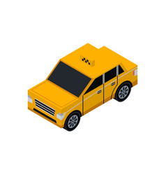 taxi cab isometric 3d element vector image